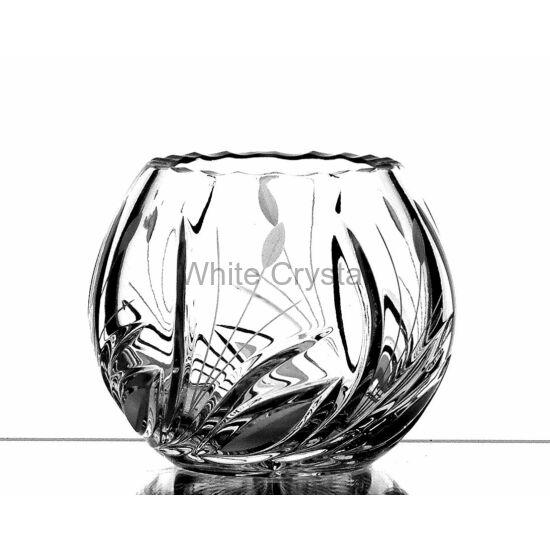 Viola * Ólomkristály Gömb váza 085 (10)