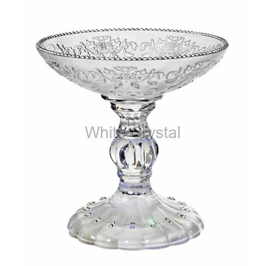 Royal * Kristály tál talppal 16 cm LF
